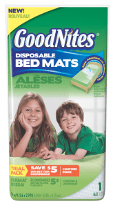 GoodNites bed mats FREE + Moneymaker on Goodnites Pads at Walmart!