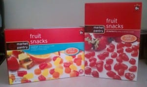 Market Pantry Fruit Snacks Market Pantry Fruit Snacks $1 off Coupon= 50¢ at Target!
