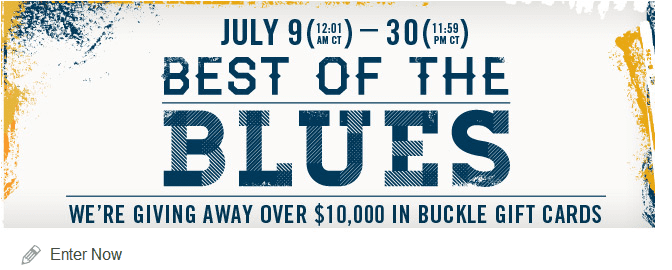 buckle gift card best of the blues sweepstakes 10 000 in buckle gift cards 3486