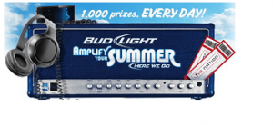 budlight 300x138 Bud Light Amplify Your Summer Instant Win Game (1,000 Winners Daily)