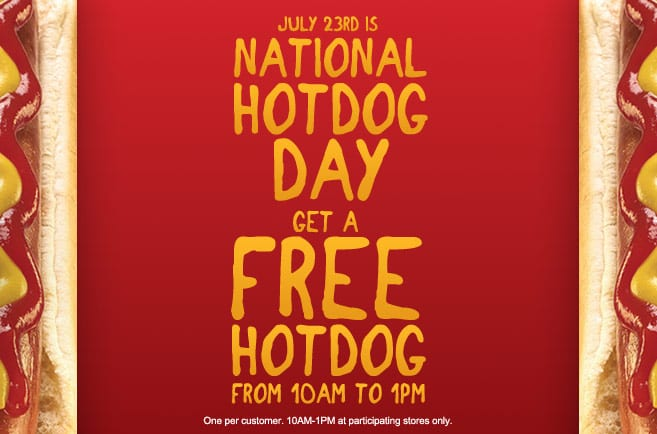 hot dog Free Hot Dog at Kangaroo Express  Today Only!