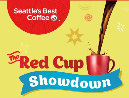 red cup Seattles Best Coffee Red Cup Showdown Instant Win Game   I JUST WON A $10 WALMART Gift Card!!