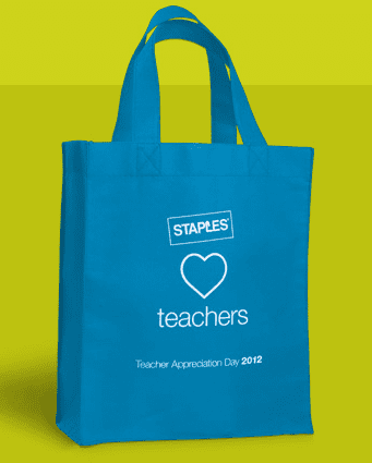 Free Thank You Bag For Teachers At Staples Teacher Reciation Day