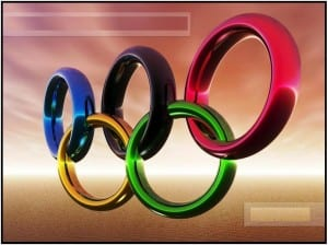 Olympic rings 300x224 Free Olympic Coloring Pages