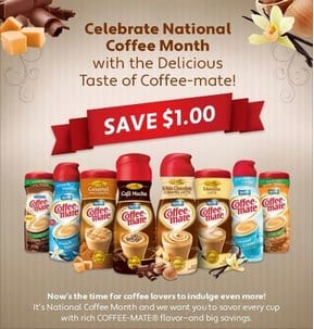 coffee mate Coffee Mate $1 off Coupon