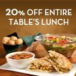 olive garden 20% off Olive Garden Lunch Coupon!