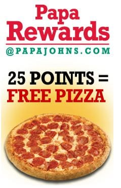 how to get free papa rewards points