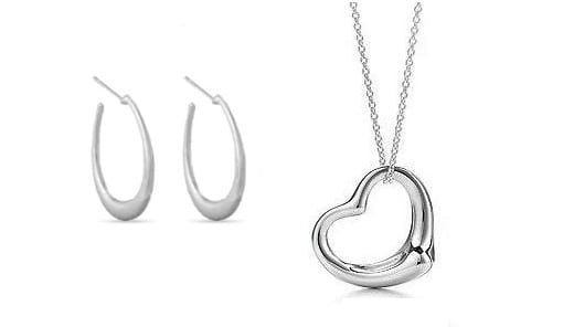 pendant Free Silver Plated Heart Pendant or Earrings