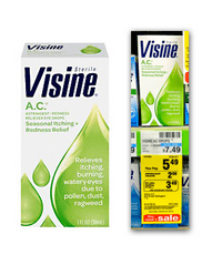 visineac CVS: Free Visine AC Eye Drops