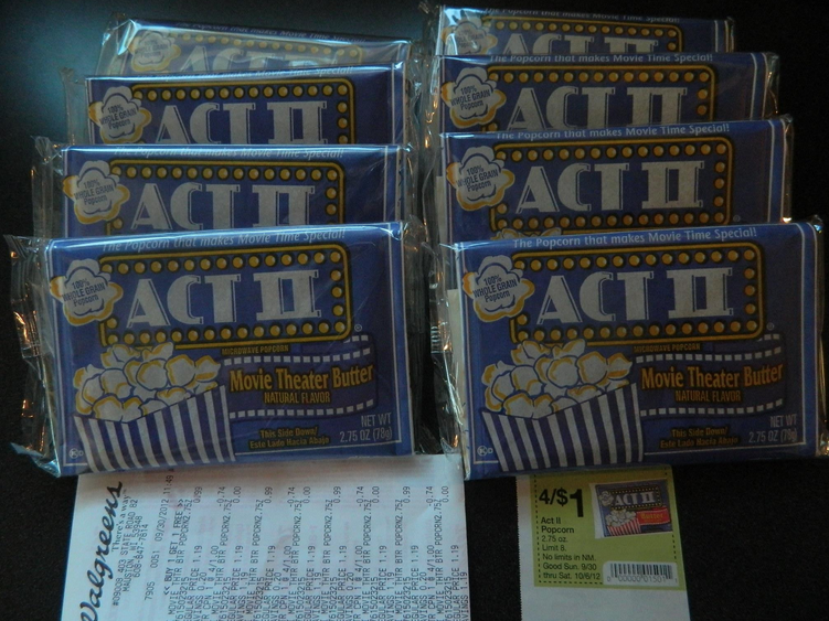 act II ACT II Popcorn Just $.12 ea. at Walgreens