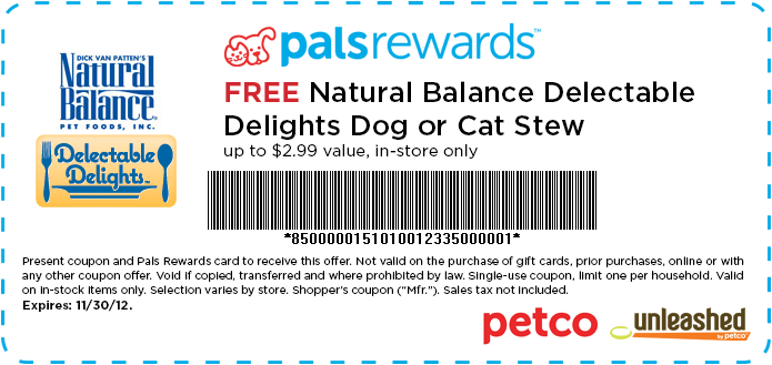 Natural balance dry cat food coupon