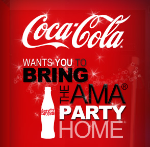 coke party Free Party Pack from Coca Cola AMA Awards (Ages 13 18)