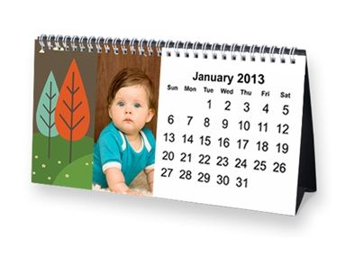 desk calendar Personalized Desk Calendar only $4.99 shipped + 40 Free Photo Prints!