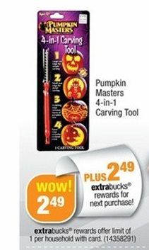 pumpkincarving FREE Pumpkin Masters Carving Kit at CVS