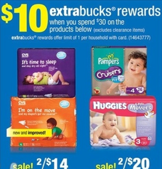 10 ecbs huggies $3 off Huggies Coupon = as low as $3.67 at CVS!