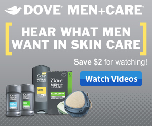 DoveMen SM 300x250 4 $2 Off Dove Men Care Coupon
