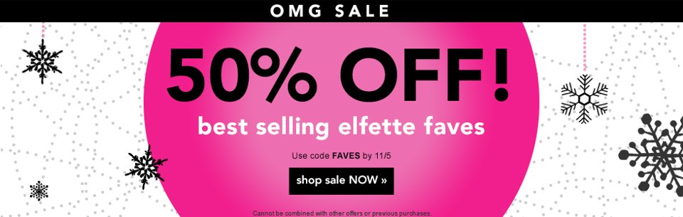 ELF Cosmetics E.L.F. Cosmetics 50% Off Coupon Code  Last Day!