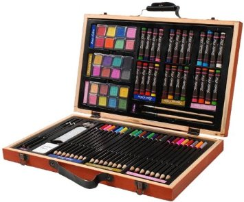 are set Darice 80pc Deluxe Art Set only $11.97 shipped (reg $39.99)