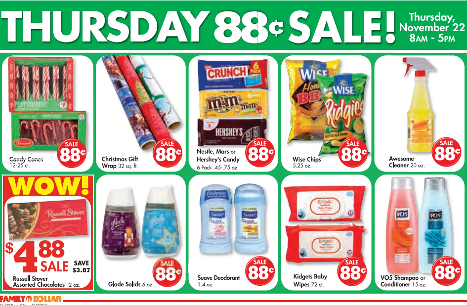 Thanksgiving Day BOGO Sale at Family Dollar