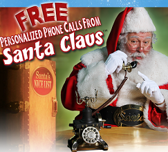 santa FREE Personalized Phone Call From Santa Claus!