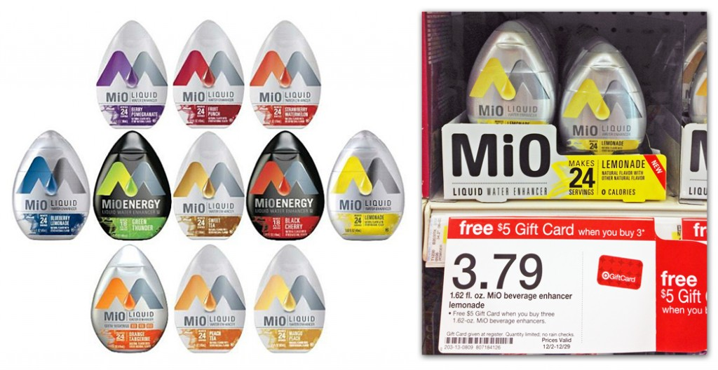Mio Target Promo Mi0 Water Enhancer Coupons Makes it Just 29¢ at Target!