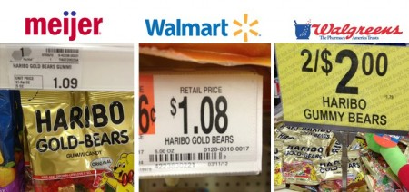 haribo 3 stores 450x212 Haribo Gummy Bears 30¢ off Coupon + Walmart, Walgreens and Meijer Deals
