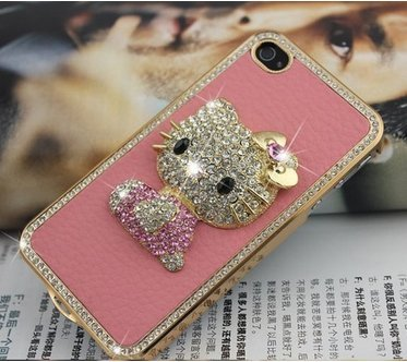 hkphone Hello Kitty Rhinestone iPhone 4 Cover $6.88 Shipped!
