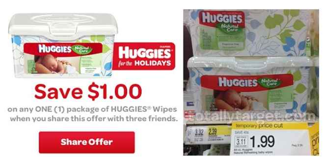 huggieswipes Huggies Wipes $0.99 at Target!