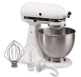 kitchenaid mixer white KitchenAid 4.5 Quart Stand Mixer only $82.54 Shipped (reg $299)