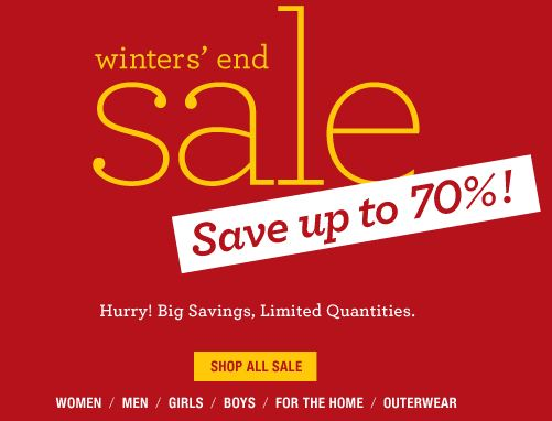 lands end winter sale Lands End Winters End Sale! Save up to 70% off!