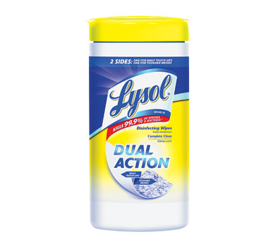 lysol Free Lysol Dual Action Wipes   $3 rebate