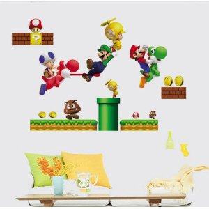 mario Super Mario Removable Vinyl Wall Art Only $7.95 (Orig $39.99)!!