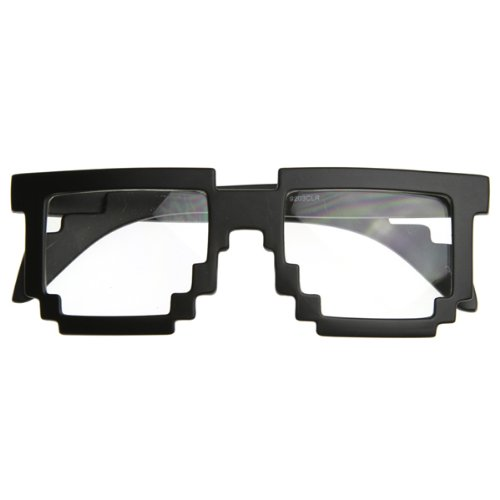 Pixelated 8 Bit Gamer Glasses