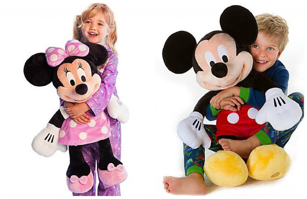 mm collage 1024x663 Disney Store Toy Mania Sale: Mickey or Minnie Large Plush Toy only $20 (reg $39)