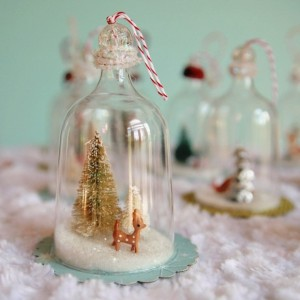 DIY Vintage Inspired Bell Jar Ornaments