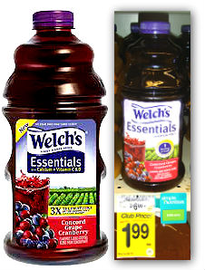welchs Welchs Juice 64 Oz $1.49 at Safeway!