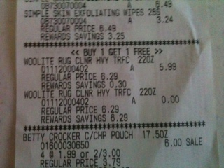 woolite receipt 2 FREE Woolite Carpet Cleaner at Walgreens!