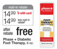 diabeticfoot Moneymaker on Phase + Diabetic Foot Therapy at Walgreens!