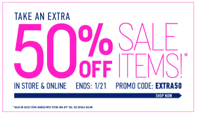 forever 21 Forever 21: 50% off all sale items!