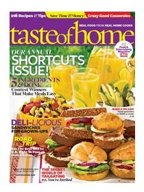 taste of home cover Taste of Home Magazine only $3.99 per year!