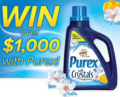 Purex Detergent Sweepstakes 500 FREE Bottles of Purex or Win $1000 Cash