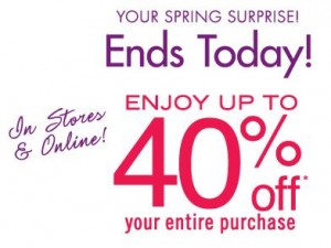 bath and body works coupon 300x225 Bath and Body Works Spring Surprise Coupon: Up to 40% off