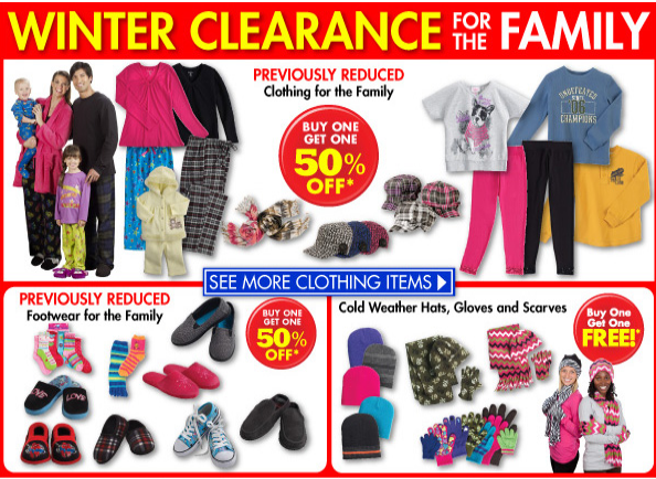 Winter Clothing Clearance At Family Dollar B1G1 50 Off