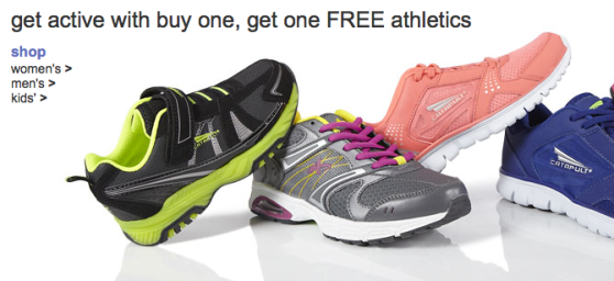 kmart shoes Kmart.com: BOGO Free Athletic Shoes