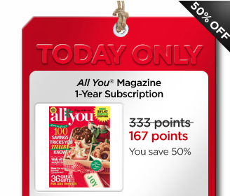 MCR All You magazine All You Magazine Subscription only 167 My Coke Reward Points!