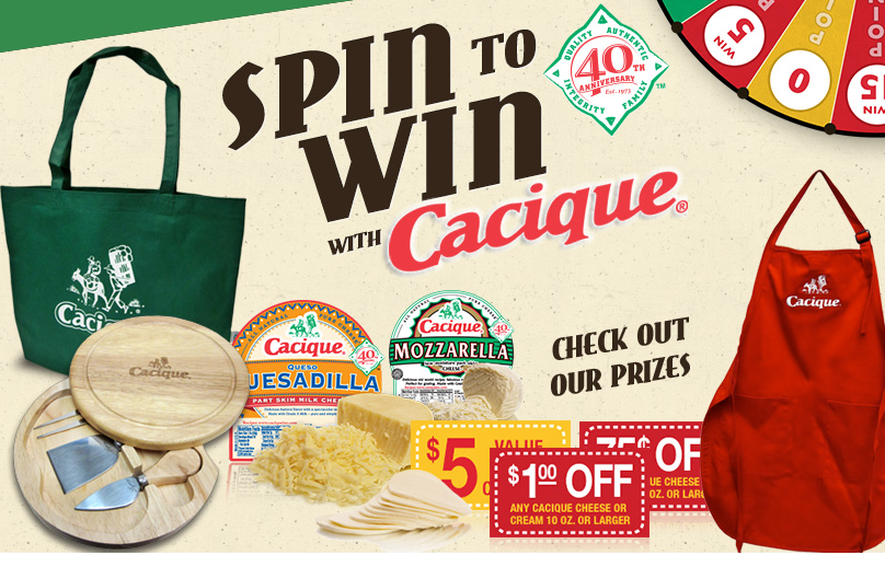 cacique Cacique Instant Win Game: Free Cheese, Yogurt, Tote Bag and More....