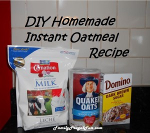 homemade instant oatmeal Homemade Instant Oatmeal Recipe