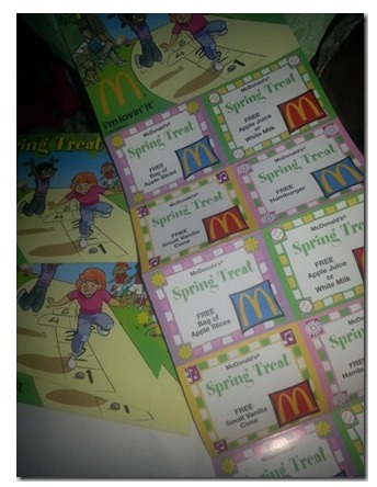 McDonalds Spring Treat Coupon Book: Free Burger, Ice Cream and More...