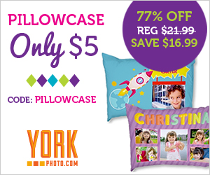 pillowcase Customized Pillow Case only $5 plus shipping (reg $21.99)