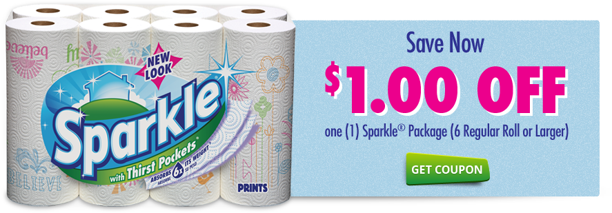 sparkle Sparkle Paper Towels only $0.50 ea at CVS!